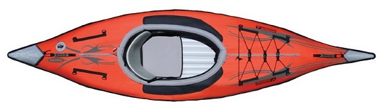 Advanced Elements AE1012-R AdvancedFrame Inflatable Kayak Above View