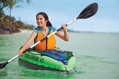 Intex Challenger K1 Kayak, 1-Person Inflatable Kayak River