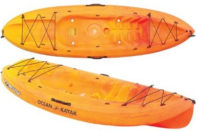 Ocean Kayak Frenzy Sit-On-Top Recreational Sunrise Orange