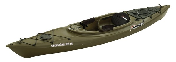 Sun Dolphin Excursion Sit-In Fishing Kayak - Drab Green
