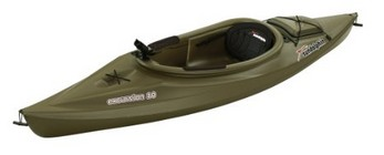 Sun Dolphin Excursion Sit-In Fishing Kayak - Olive Green