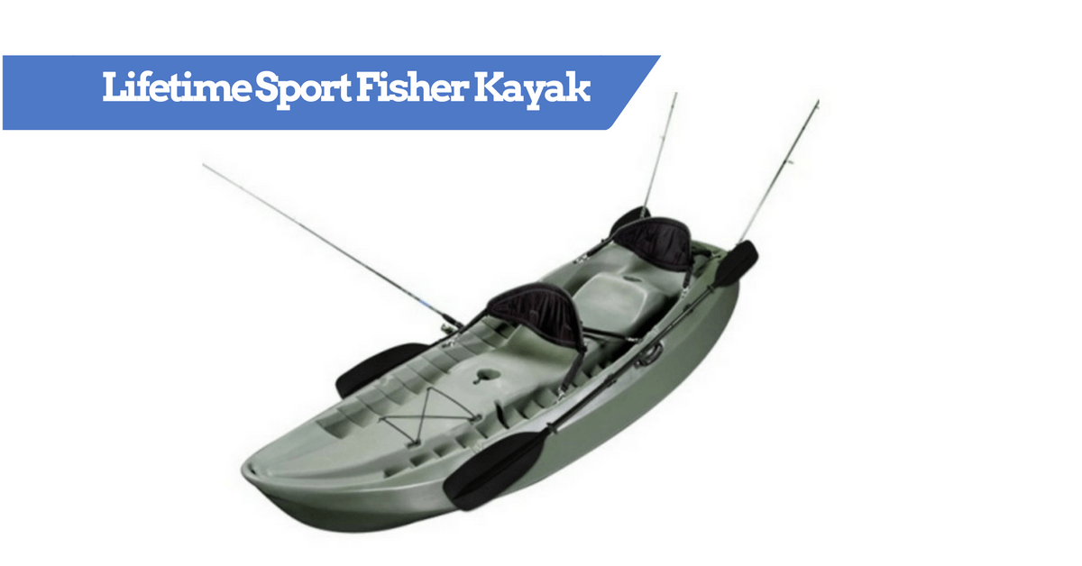 Lifetime sport fisher single or tandem kayak review for Lifetime fishing kayak