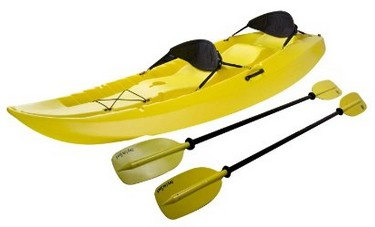 Lifetime Manta Tandem Sit on Top Kayak with Paddles and Back Rests - Best tandem Kayak