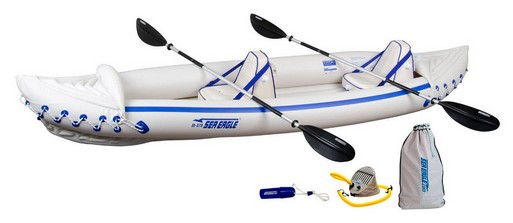 Sea Eagle SE370K_P Inflatable Kayak with Pro Package - Best Tandem Kayak