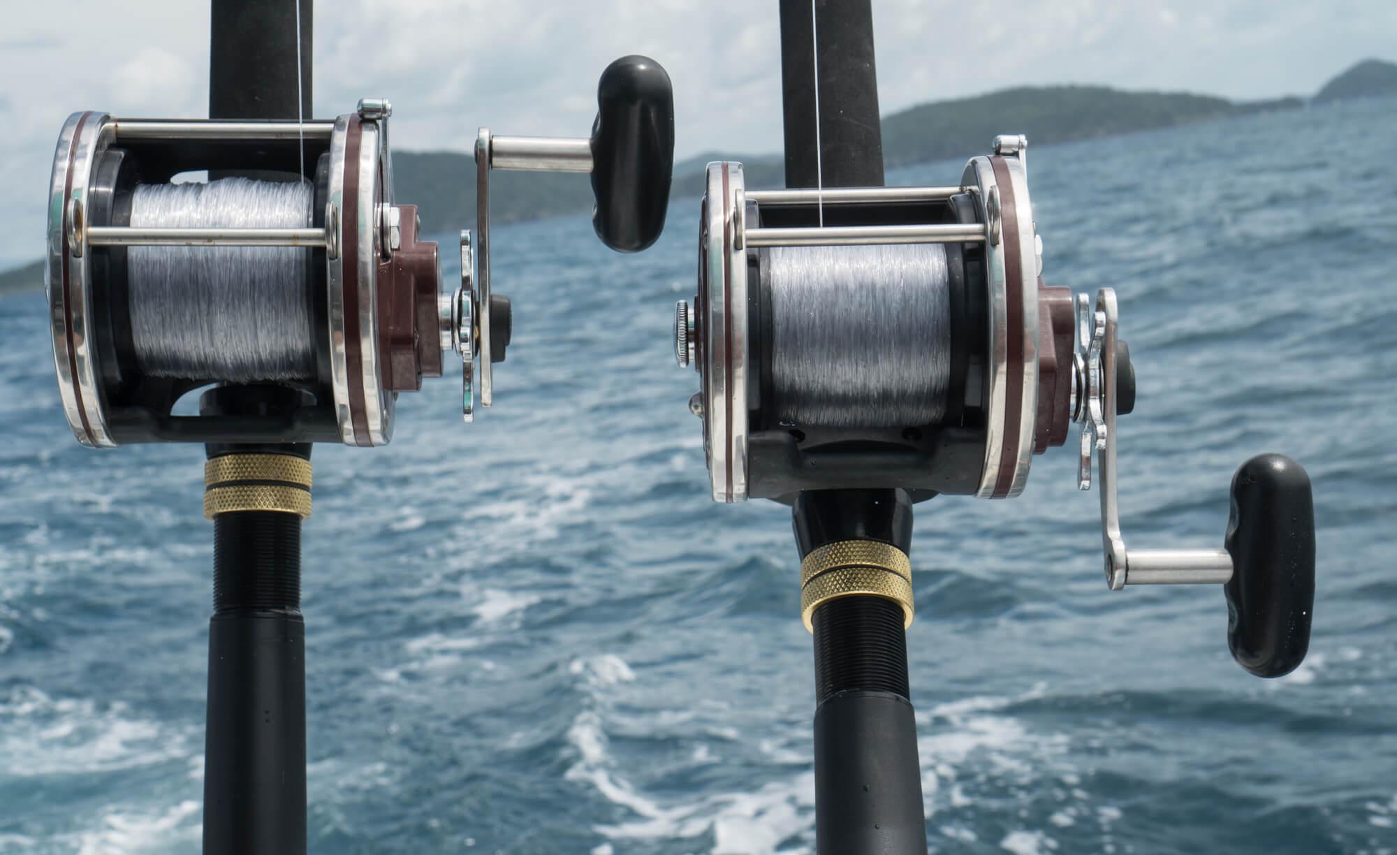 2 Fishing Rods - Pass fishing boat