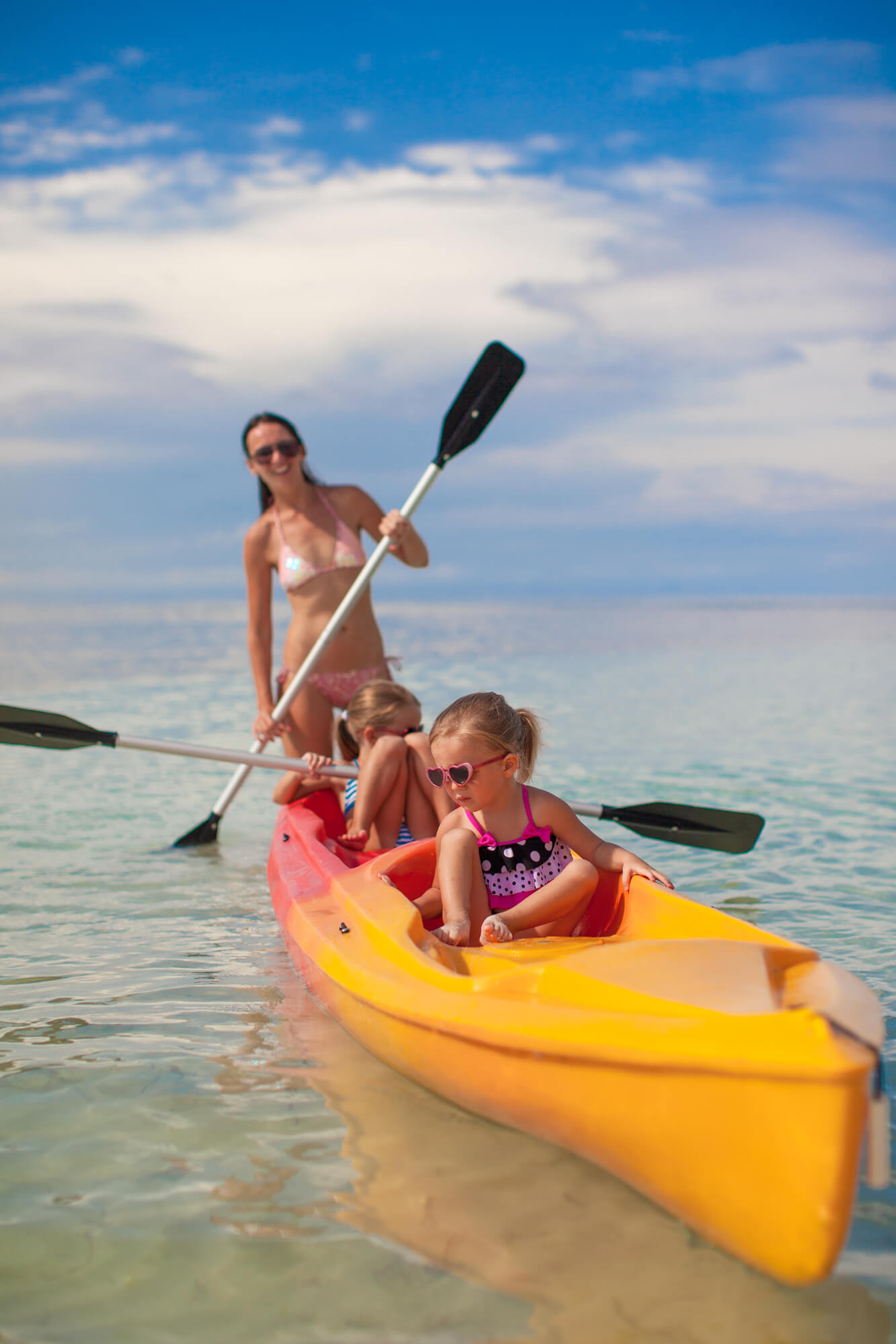 Family in Kayak - Best Tandem Kayak