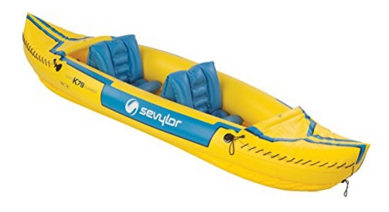 Sevylor Tahiti Classic Tandem Kayak  - yellow and blue colors