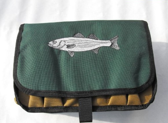 Striper Saltwater Surf Fisherman's Lure & Plug Ten Compartment Bag Case