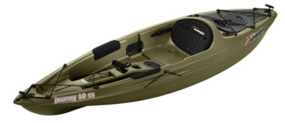 Sun Dolphin Journey 10 Foot Sit-on-top Fishing Kayak