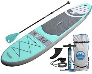 PEAK Inflatable Stand Up Paddle Board with Adjustable Paddle