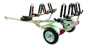Malone MicroSport Trailer with 4 J-Pro2 Kayak Carriers