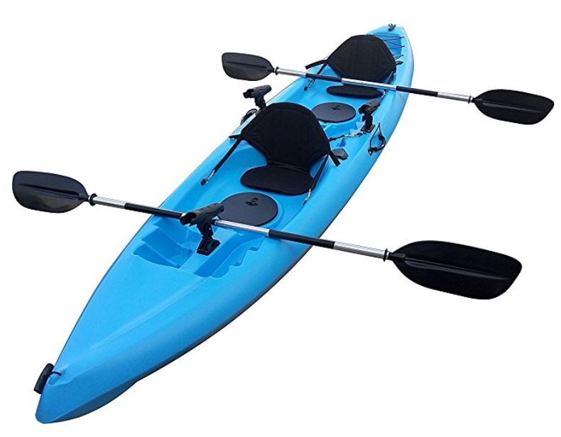 BKC UH-TK181 12.5ft Sit-On-Top Tandem Fishing Kayak