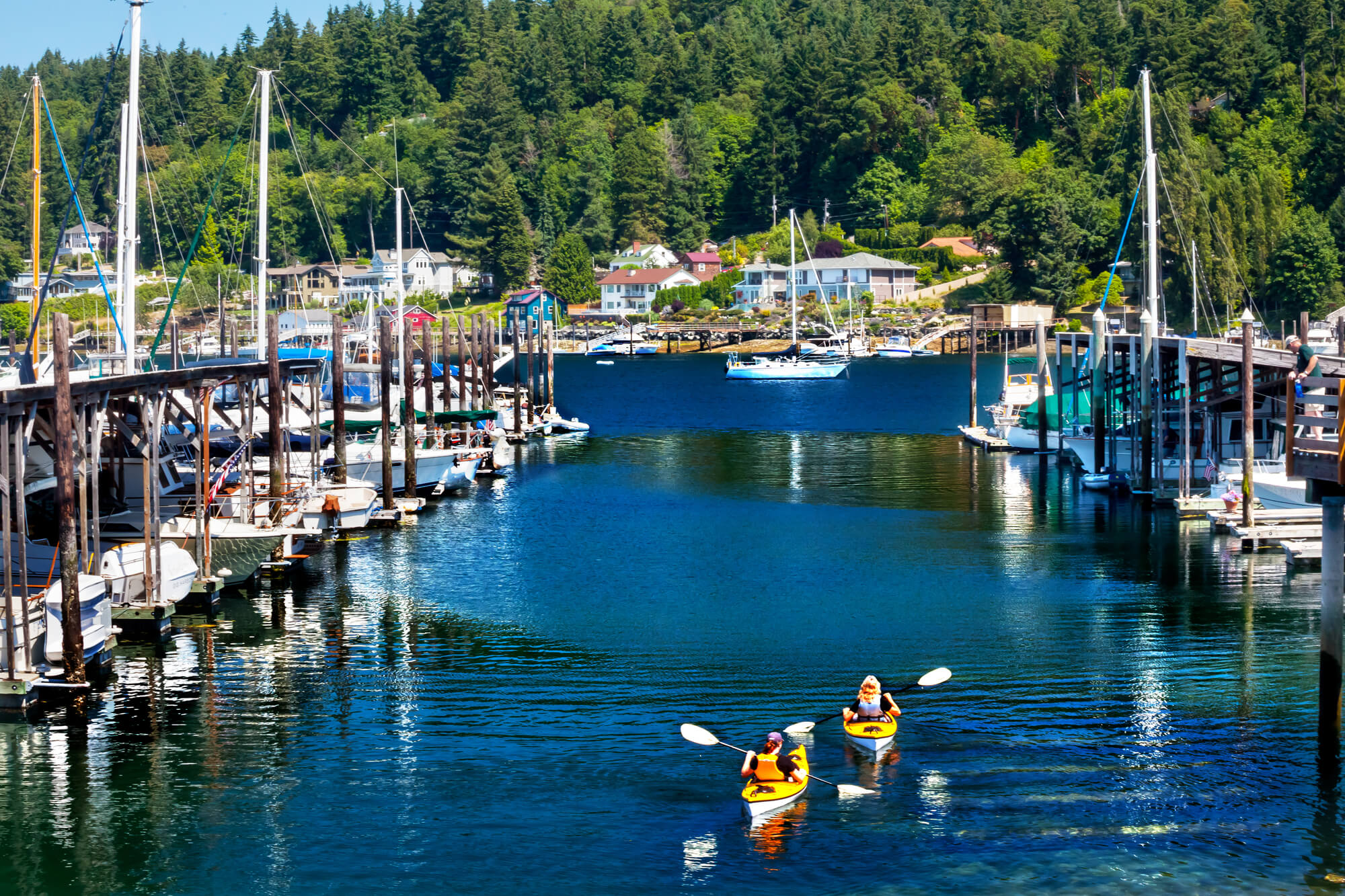 Kayaking In Marina