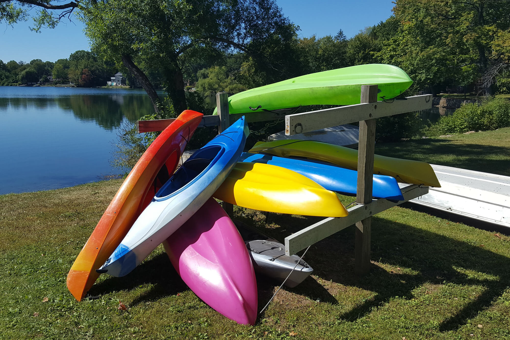 Kayaks Stored Outdoors
