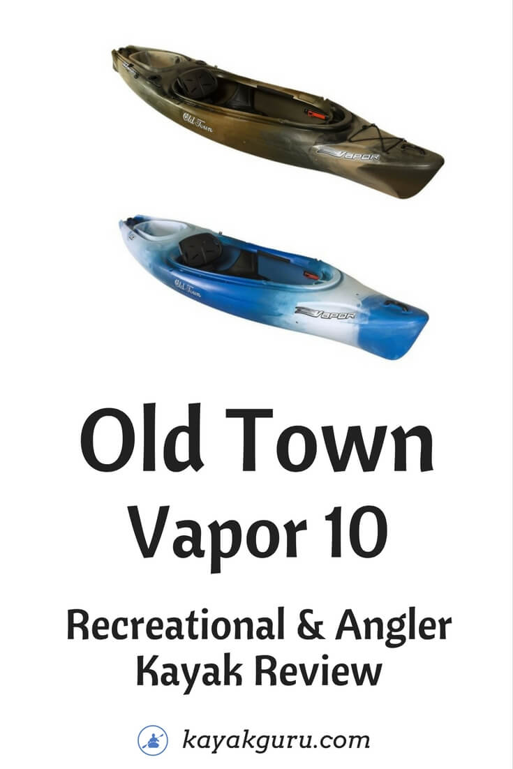 Old Town Vapor 10 Recreational & Angler Fishing Kayak Review - Pinterest