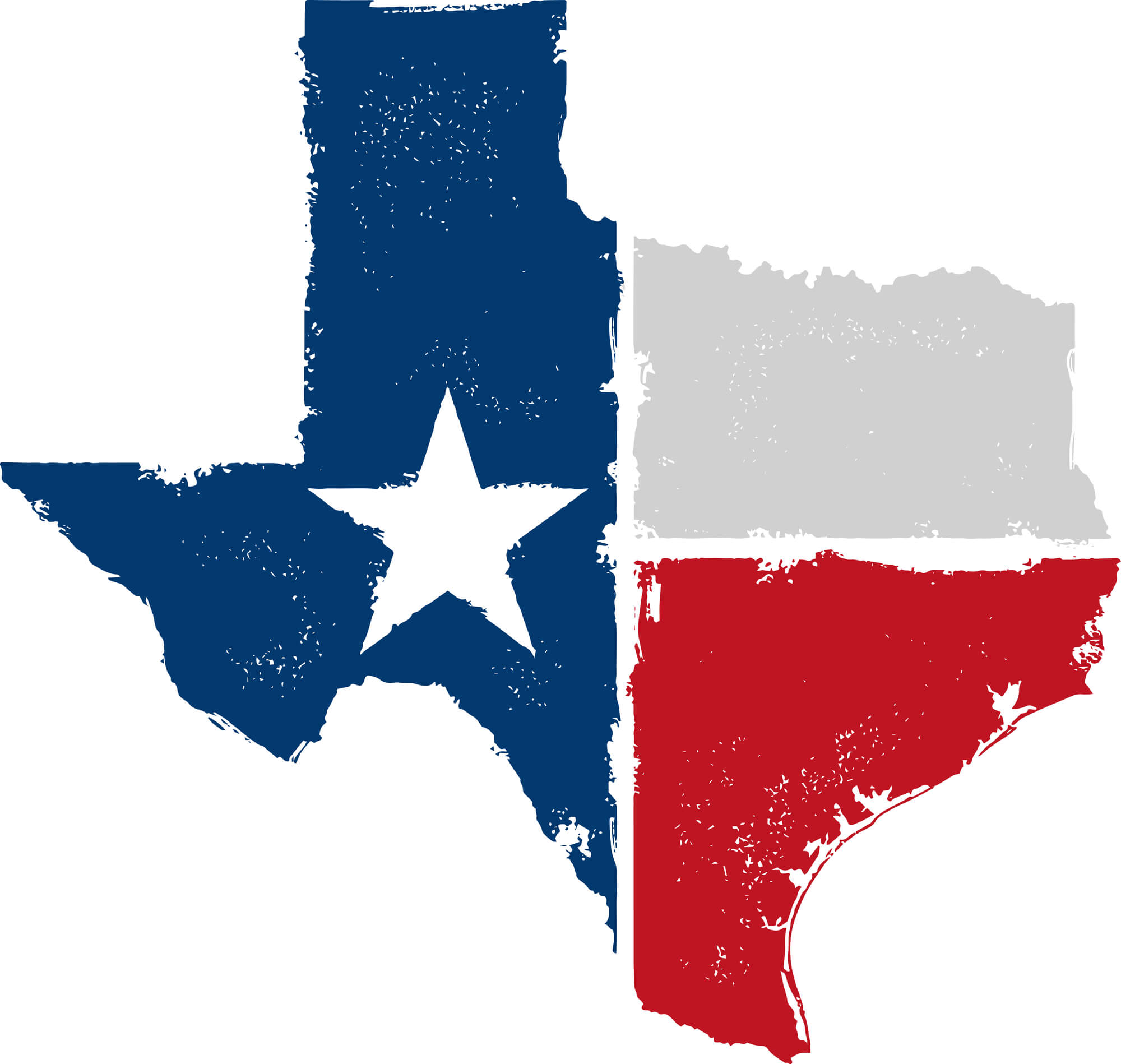 Texas Flag Map - Bowfishing in the USA