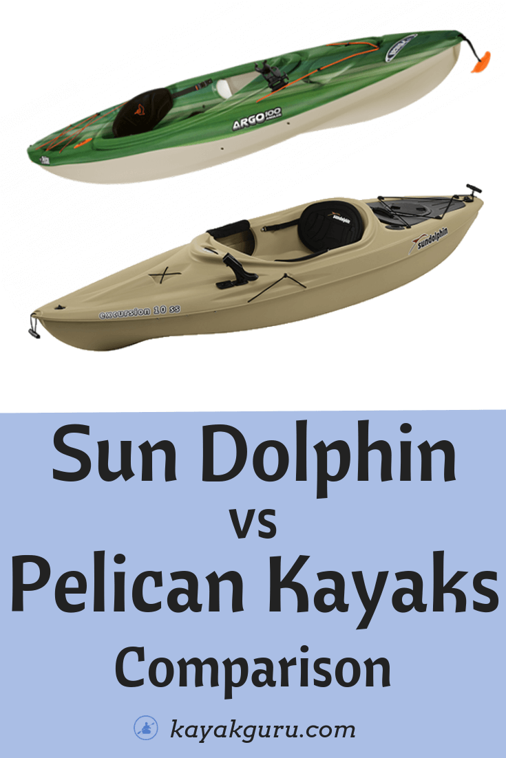 Sun Dolphin vs Pelican Kayaks   Popular Features Compared