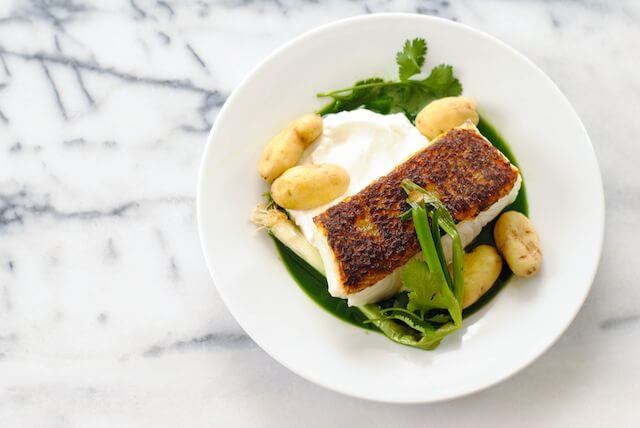 Seared-Chilean-Sea-Bass-with-Potatoes-Herb-Sauce-1