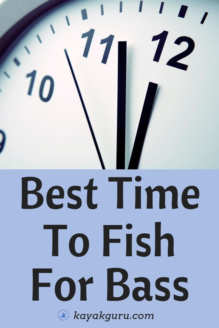 Best Time To Fish For Bass - Pinterest Image