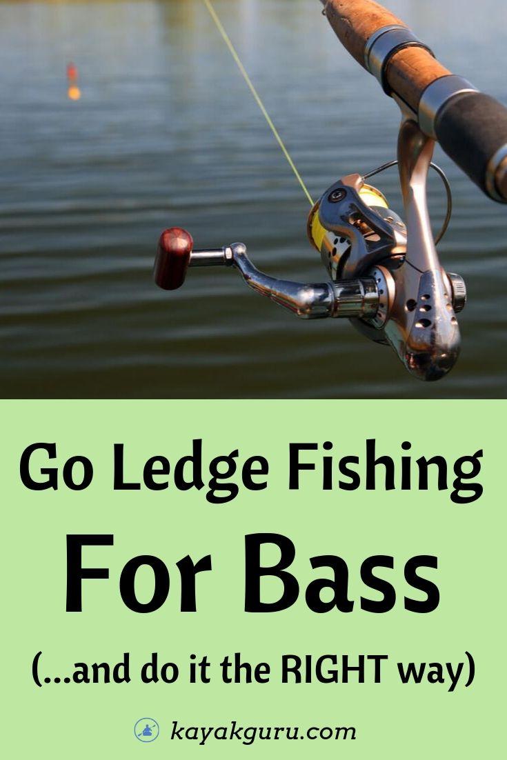 Go Ledge Fishing For Bass - Pinterest Image