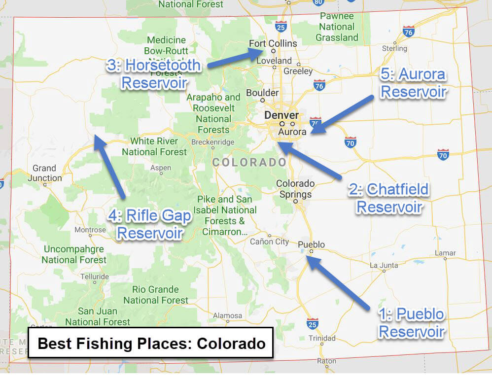 Colorado Map - Fishing best places