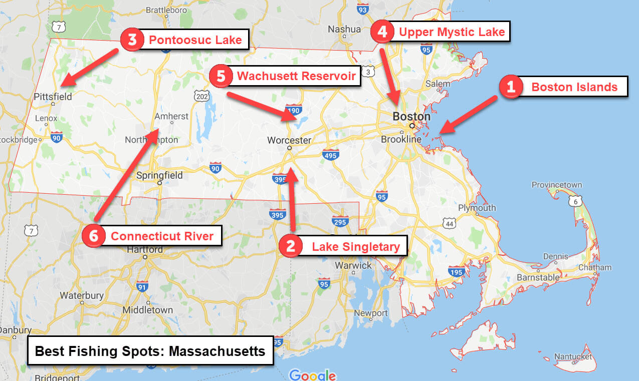 Best Places to fish in Massachusetts