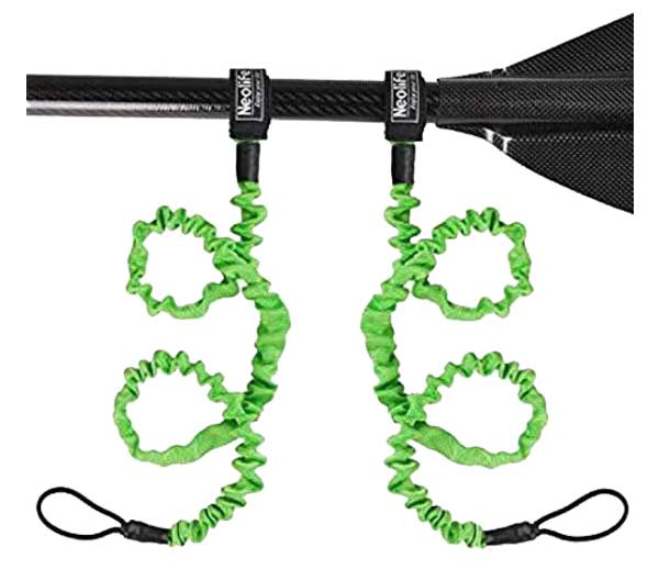 VGEBY1 3 pcs Kayak Paddle Leash Kayak Adjustable Safety Paddle Leashes and Deck Mounted Clips with Hardware Universal Kayak Accessories